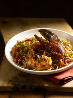 Lobster Fra Diavlo, Fish Without a Doubt: The Cook's Essential Companion, Rick Moonen (Author), Roy Finamore (Author), www.amazon.com/..., Ben Fink Photographer/Director, benfinkphoto.com, ©Ben Fink