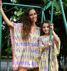 59b6900959e Colorful kaftans for mums and daughters. 100% cotton. At Baliza shop  Kaftans