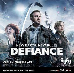 #Defiance - poster da nova série da SyFy. Estreou a 16 de Abril