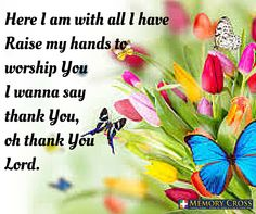 #ThankYouLord All Glory to you alone.