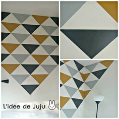 Les astuces Home made ♥ DIY – la deco de Paul & Lola Triangles, Acrylic Pouring Art, Decoration, Sweet Home, Diy, Homemade, Abstract, Artwork, Scrappy Quilts