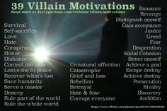 39 Villain Motivations
