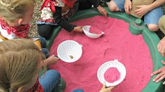 Rocks spray painted gold and buried in the sandbox made a great gold mining game.