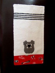 Georgia Bulldogs Burp Cloth applique
