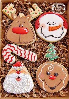 Santa and friends cookies