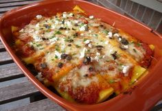 Lasagne stílusú puliszka rakottas