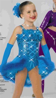 Dance Costume Child and Adult Blue//Purple Prince Beast Solo Competition Pageant