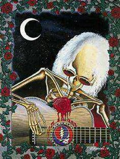 Dead Serenade Art Print by Gary Kroman. All prints are professionally printed, packaged, and shipped within 3 - 4 business days. Grateful Dead Wallpaper, Grateful Dead Poster, Grateful Dead Dancing Bears, Crane, Dead And Company, Thing 1, Psychedelic Rock, Punk, Forever Grateful