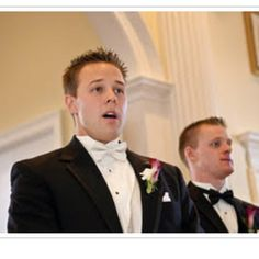 Grooms face when he sees his bride... Priceless.