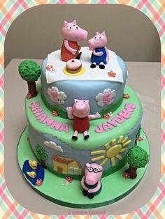 Peppa Pig Stacked Cake