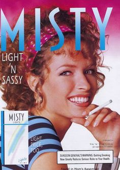 1980s advertising for girly cigarettes — Misty