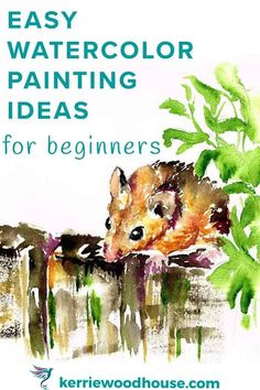 Easy Watercolor Ideas for Beginners Looking for easy watercolour painting ideas? I've got you covered. Discover 7 good things to paint in watercolour and a tip or two to get you started Watercolor Beginner, Watercolor Paintings For Beginners, Watercolor Projects, Watercolor Tips, Beginner Painting, Watercolour Tutorials, Watercolor Techniques, Easy Paintings, Watercolor Landscape