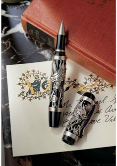 Amazon.com: Twin Dragons Sculptural Pewter Pen [Office Product]: Patio, Lawn & Garden
