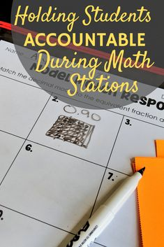 How to Keep Your Students Accountable During Math Stations 3rd Grade Classroom, 5th Grade Math, Math Lesson Plans, Math Lessons, Math Stations, Math Centers, Elementary Math, Upper Elementary, Classroom Routines And Procedures