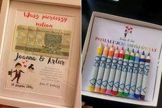 Alternatywa dla kartki na wesele ;) Ramka z pierwszym milionem młodej pary...