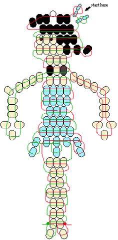 Betty Rubble pony beads pattern