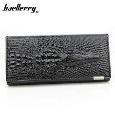 BAELLERRY 3D Designer Genuine Leather Women Wallets Fashion Lady Coin Purses Long Alligator Clutch Wallets Female Card Holders