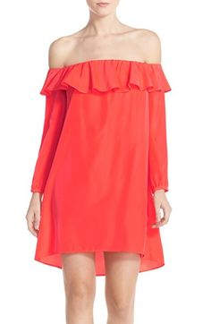 A by Amanda 'Joanna' Ruffle Off the Shoulder Dress available at #Nordstrom
