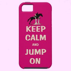 Keep Calm and Jump On Pink Horse iPhone 5 Case