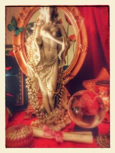the letter on Aphrodite's altar - Pinned by The Mystic's Emporium on Etsy