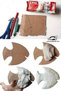 Творческая мастерская DECORETTO | ВКонтакте Clay Crafts For Kids, Kids Clay, Crafts For Teens To Make, Toddler Crafts, Art For Kids, Paper Mache Crafts, Polymer Clay Crafts, Clay Fish, Clay Wall Art