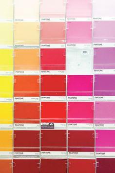 pantone paint chips.