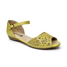 Sandália Rasteira Comfortflex – Amarelo