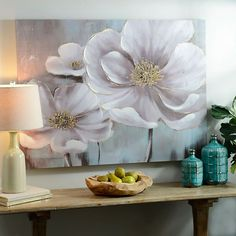 Beautify your walls with the charm and color of our Floral Eloquence Canvas Art Print! This print's golden gel accents accentuates its blossoms oversized shape. Flower Canvas Art, Flower Art, Affordable Art, Acrylic Art, Canvas Art Prints, Painting Inspiration, Wall Art Decor, Paintings, Magnolias