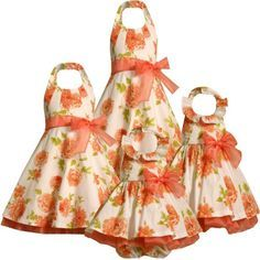 floral flower girl dresses coral - Google Search