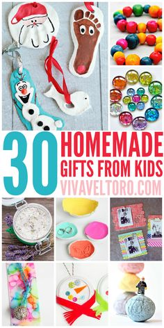 This list of full of crafts and DIY homemade gift ideas for grandparents, parents, teachers, friends and family.