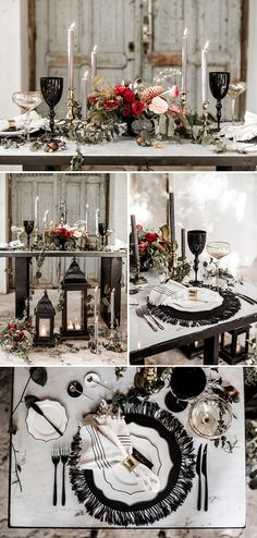 Black table decor and setting | Image by Lilly Red Creative
