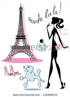 Chic French Fashion Icons - stock vector id 116968033