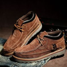 High-quality Washable Suede Sewing Retro Classic Lace Up Casual Shoes For Men - NewChic Mobile.