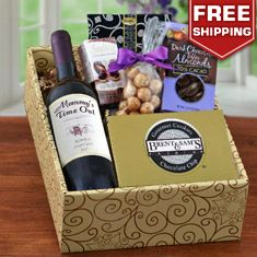 Mommy's Time Out Red Wine & Snax Gift Box