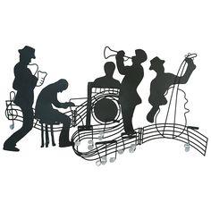All that jazz french quarter style caz, müzik, füzen çizimle Music Drawings, Music Artwork, Music Wall, Music Silhouette, Jazz Poster, Newspaper Art, Jazz Art, All That Jazz, Metal Wall Sculpture