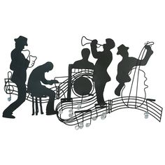 All That Jazz - Torch Cut Metal Wall Sculpture