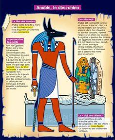 Anubis es uno de los más antiguos Dioses existentes, Señor de la muerte, la resurrección después de ella y los embalsamamientos. Egyptian Mythology, Ancient Egyptian Art, Ancient History, French Class, French Lessons, Anubis, Egypt Map, French Expressions, French Language Learning
