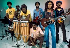Bob Marley and the Wailers were a Jamaican reggae band and, earlier, a ska vocal group created by Bob Marley, Peter Tosh and Bunny Wailer. Make Mine Music, Music Love, Music Is Life, Rock Music, Dancehall Reggae, Reggae Music, Reggae Artists, Music Artists, Bob Marley Pictures