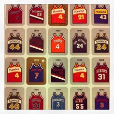 Some vintage NBA jerseys Check out more NBA Action at www.sportsworld4u.com