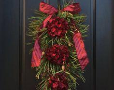Christmas Swag Girl Holiday Wreath Swag OR Boy by AnnieOjan