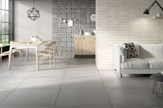 Porcelain stoneware wall/floor tiles TERRAVIVA By Ceramica Fioranese Wall And Floor Tiles, Wall Tiles, Terra Viva, Industrial, Outdoor Flooring, Construction Materials, Architecture, Stoneware, Building A House