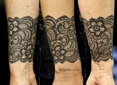 #tattoo #lace_tattoo