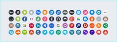 20 Free Social Media Icon Set