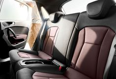 The Audi Sportback. All the engines in the Audi Sportback work with direct injection and turbocharging. Audi A1 Sportback, Small Cars, Red Garnet, Car Seats, Leather, Red Black, Centre, Board, Room