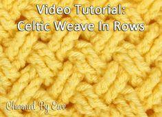 Crochet Tutorial: Diagonal Celtic Weave in Rows