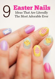 Are you looking for beautiful nail art ideas for fun Easter nails? Check out our cute ideas from bunnies to chicks and even peeps!
