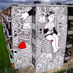 """by Millo - """"Kriebelstad"""" - Heerlen, The Netherlands - Sept 2015"""