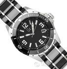 GC GUESS COLLECTION MENS SWISS-MADE BLACK CERAMIC WATCH