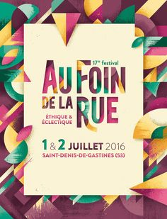 Au Foin de la Rue — The Feebles Beautiful print and graphic poster design Web Design, Page Design, Flyer Design, Layout Design, Print Design, Corporate Design, Design Art, Graphic Design Posters, Graphic Design Typography