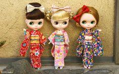 Trio kimono